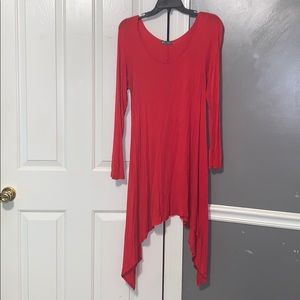 Red holiday tunic/dress